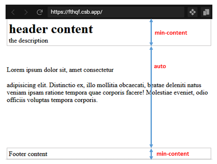 Intrinsic min-value Content Height