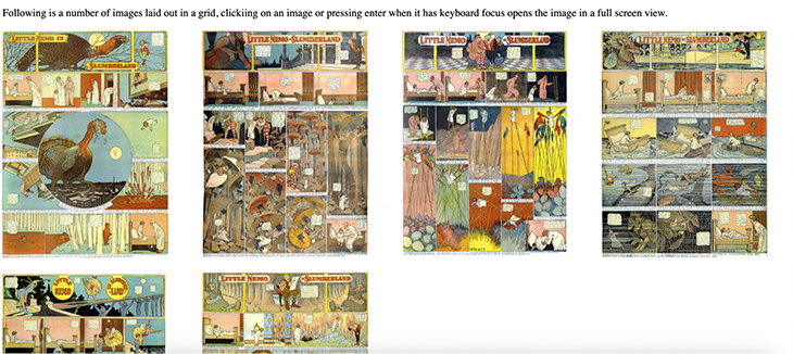 Little Nemo images with full-screen views available