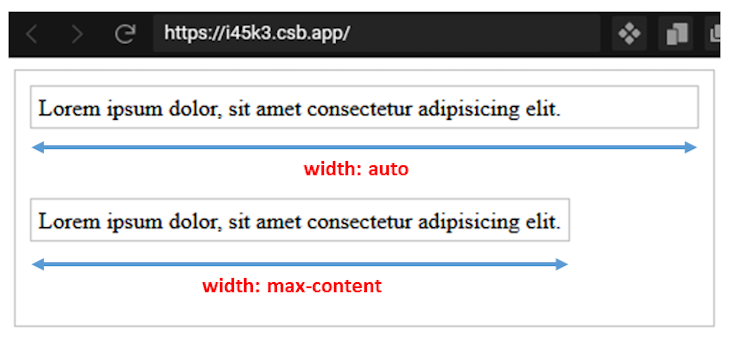 max-content Wrapping Box To Text Length