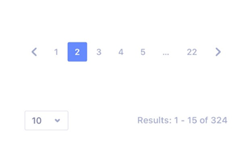 Example of pagination