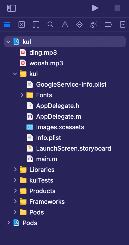 Directory of Sound Files in a React Native App