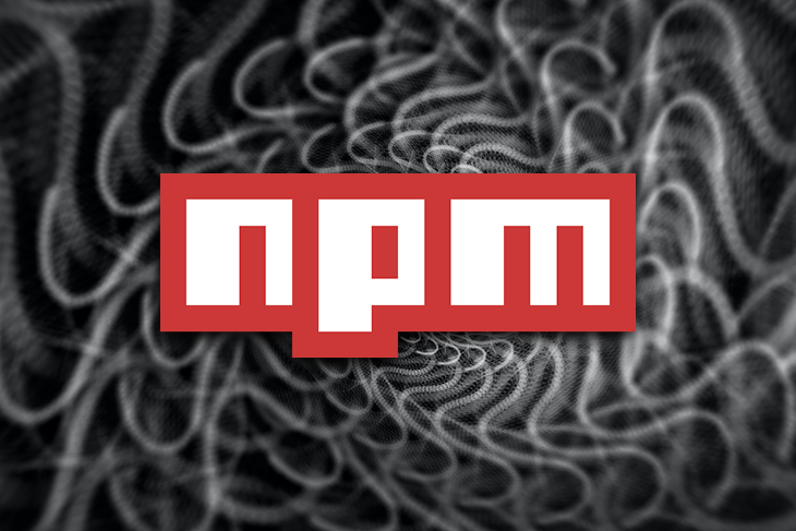 NPM Over a Black, Swirling Background