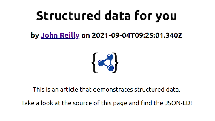 Example Article With Structured Data