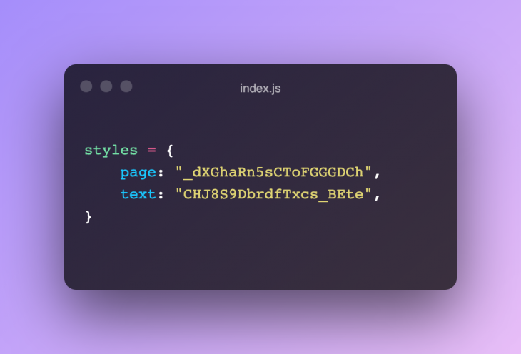 The styles object in index.js