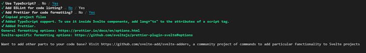 Svelte Sapper TypeScript Prettier Eslint Configuration