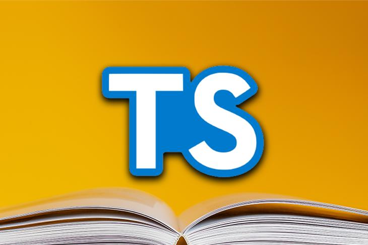 Typescript Logo Over an Open Book