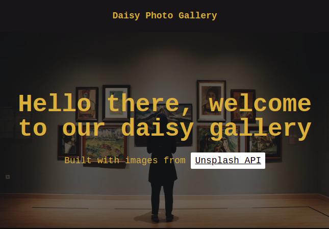 Unsplash Developers API New Daisyui App