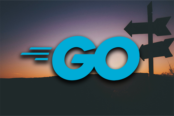 Go Logo With a Sign Pointing in Two Directions in the Background