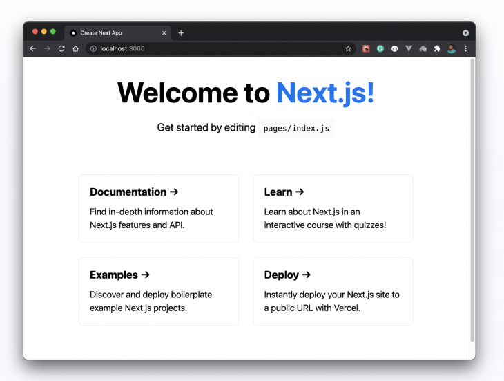 Welcome to Next.js Page