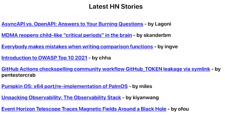Hacker News stories without points