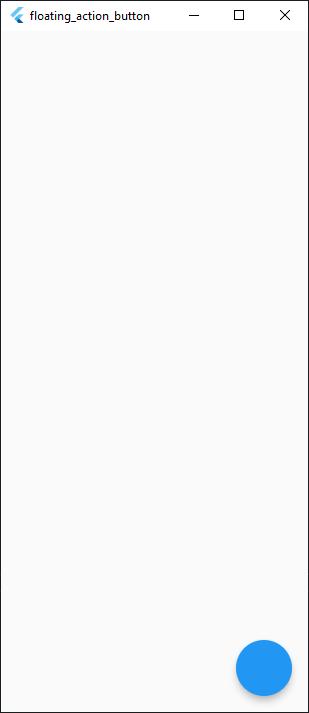 Default Position of FloatingActionButton in a Flutter App