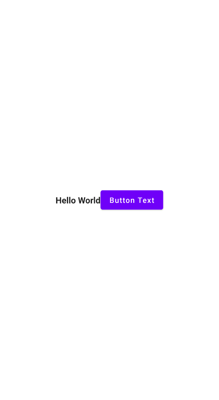Horizontal Button Text Example