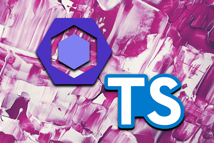 TypeScript Logo Over a Pink Background