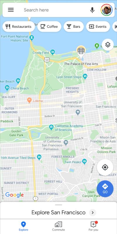 Google Maps App Using Multiple FloatingActionButtons