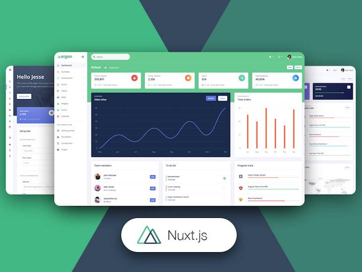 Nuxt Argon Dashboard UI